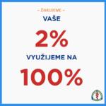 Darujte 2% jednej z organizácií pri našich klinikách a oddeleniach